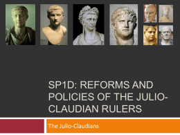 SP1d reforms and policies of the julio