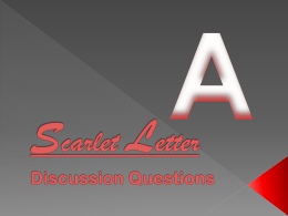 Scarlet Letter Discussion Questions