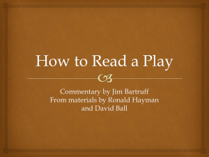 How to Read a Play - Emporia State University