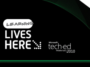 TechEd ME 2010 Web205pptx