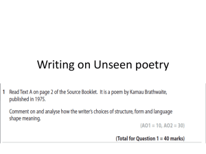 Writing on Unseen poetry1