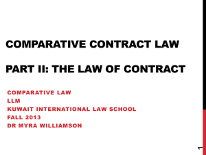 The law of contract - Dr Myra Williamson