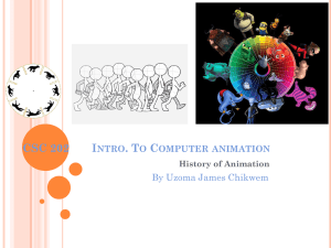 CSC 251: Computer animation