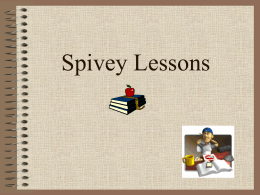 Spivey Lesson Power Point
