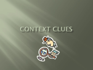 Context clues - Garnet Valley School District