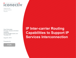inconectiv IP Interconnection Presentation - NANC