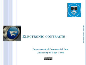 2 - e-transactions Law - University of Cape Town