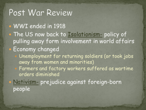 Post War Review