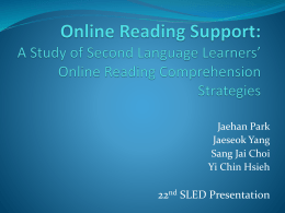 Online Reading Support: A Study of Second Language Learners