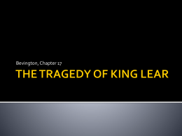 THE TRAGEDY OF KING LEAR - Emporia State University