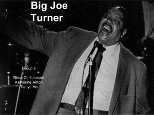 Who influence Big Joe Turner