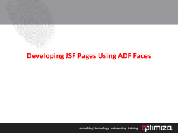 Developing JSF Pages Using ADF Faces