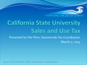CSU Sales and Use Tax