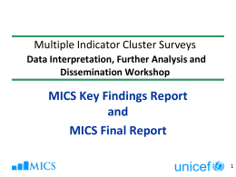 Key Findings and Final Reports