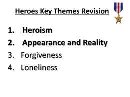 Heroes Key Themes - Cardiff High School