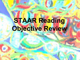 STAAR Reading Objective Review