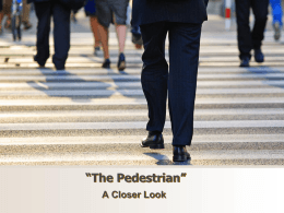The Pedestrian close reading