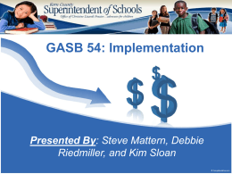 GASB 54 Powerpont Presentation - Kern County Superintendent of