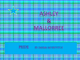 Pride By:Dahlia Ravikovitch
