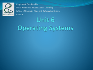Unit 6 Operating Systems