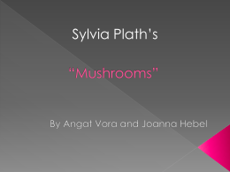 Mushrooms Sylvia Plath - EIS-J-IBA1