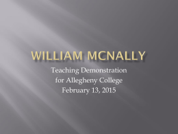 here for  - William McNally