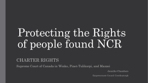Protecting the Rights of people found NCR