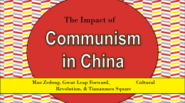 Communism in China - Effingham County Schools