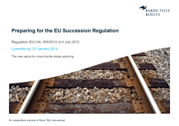 Preparing for the EU Succession Regulation