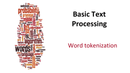 PPT for Word Tokenization (14:26)