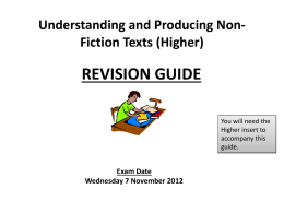 Understanding and Producing Non-Fiction Texts