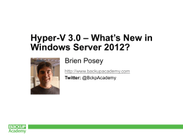 What`s New in Windows Server 2012