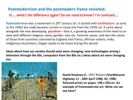 Postmodernism and the postmodern frame revisited