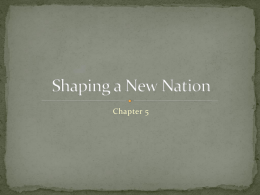 Shaping a New Nation - Miss O`Mallan`s World
