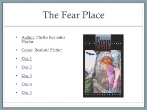 The Fear Place (PowerPoint)
