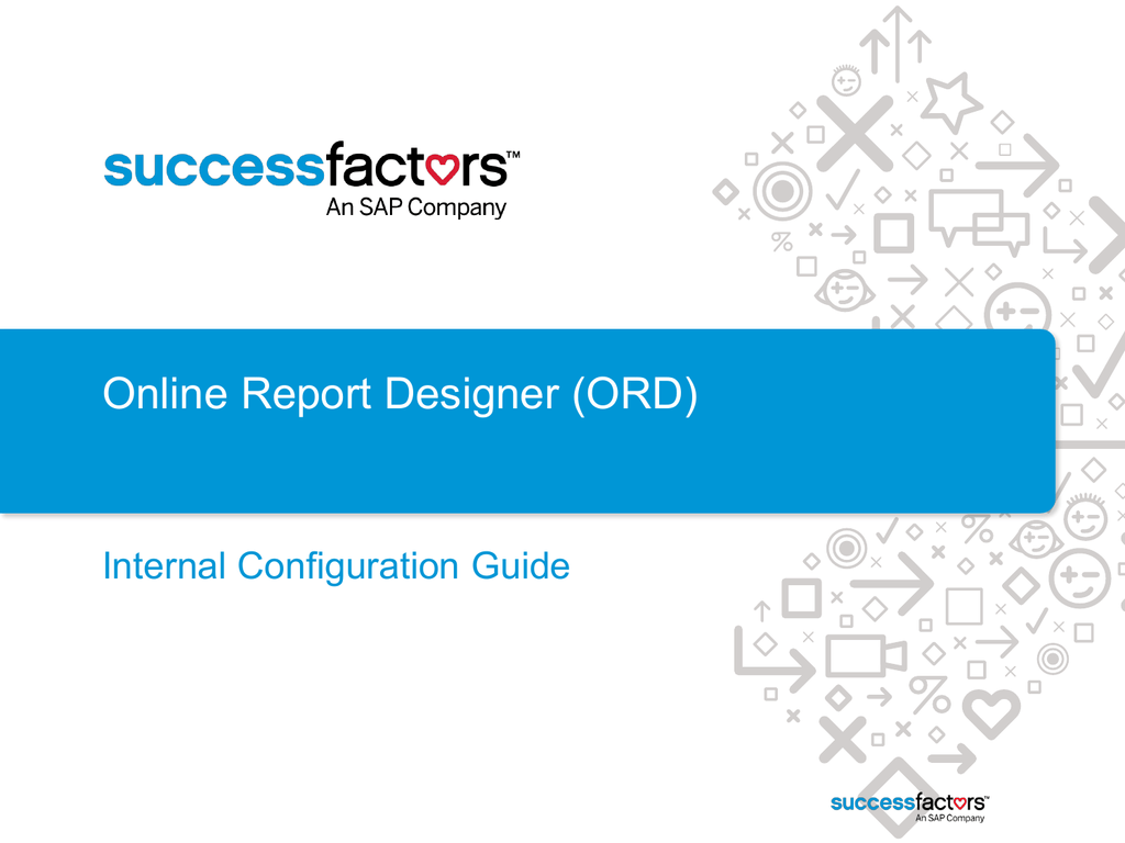 Adhoc Data in the Online Report Designer Config Guide