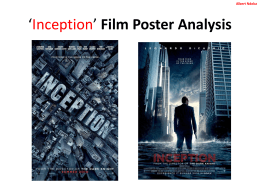 *Inception* Film Poster Analysis