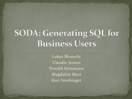 SODA: Generating SQL for Business Users