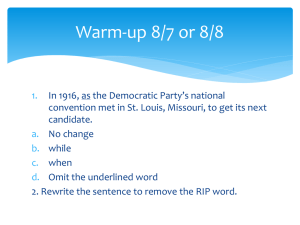 Warm-up 8/7 or 8/8
