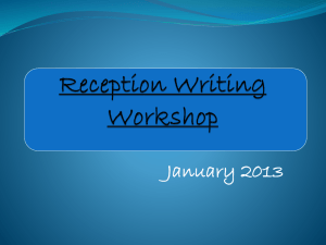 Reception Writing Workshop presentation 2013