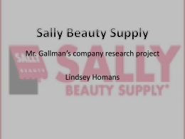 Sally Beauty Supply - Mr. Gallman`s Class