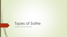 Types of Satire