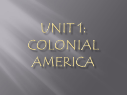Unit 1: Colonial America Bell Ringer