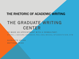 The Rhetoric of Academic Writing-