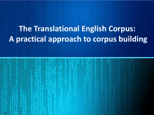 The Translational English Corpus: A practical