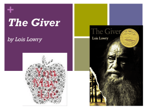 The Giver In-Class PPT