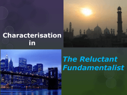 Characterisation in The Reluctant Fundamentalist
