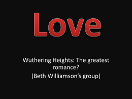Types of love that feature in Wuthering Heights