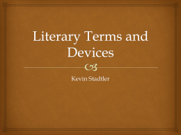 Literary Terms and Devices