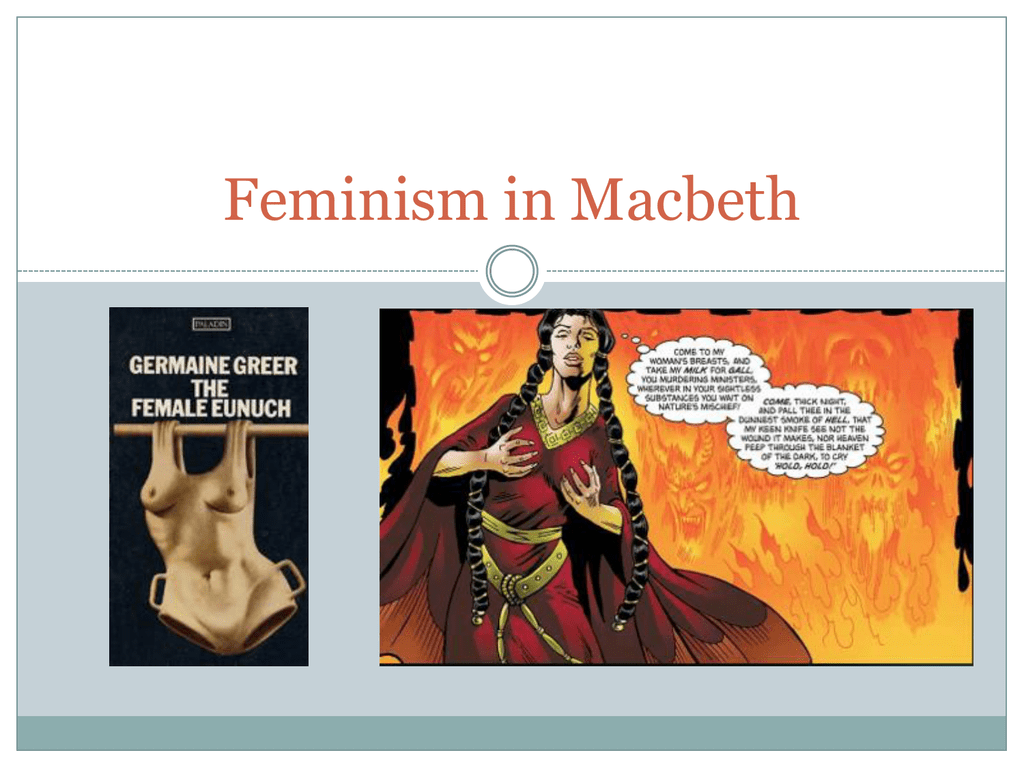 sexism in macbeth